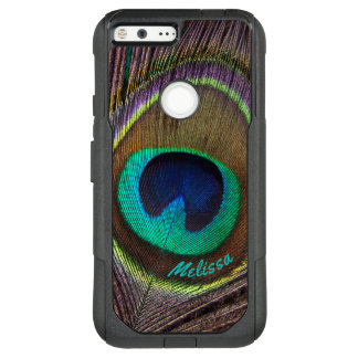 Beautiful Peacock Feather Eye, Your Name OtterBox Commuter Google Pixel XL Case