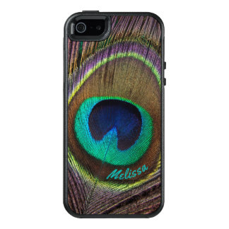 Beautiful Peacock Feather Eye, Your Name OtterBox iPhone 5/5s/SE Case