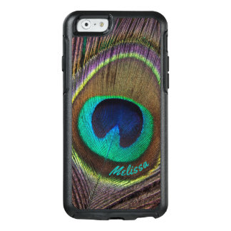 Beautiful Peacock Feather Eye, Your Name OtterBox iPhone 6/6s Case