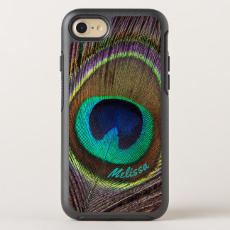 Beautiful Peacock Feather Eye, Your Name OtterBox Symmetry iPhone 8/7 Case
