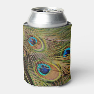 Beautiful Peacock Feathers Can Cooler
