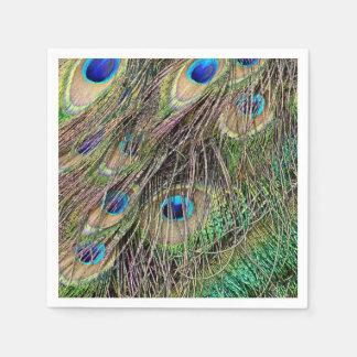 Beautiful Peacock Feathers Disposable Napkin