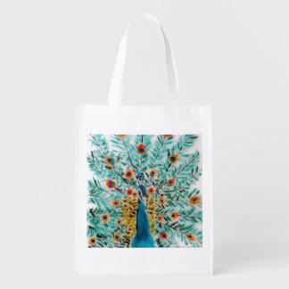 Beautiful Peacock Grocery Bags