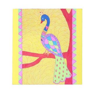 Beautiful Peacock Notepad