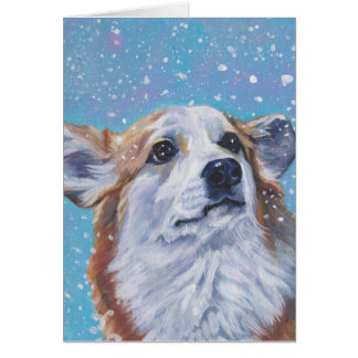 Beautiful Pembroke Welsh Corgi Fine Art Card