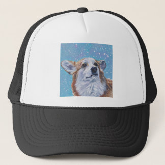 Beautiful Pembroke Welsh Corgi Fine Art Trucker Hat