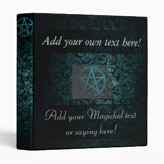 Beautiful pentacle book of shadows/witches journal 3 ring binders