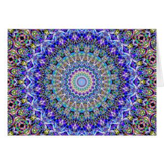 Beautiful Persian Blue Kaledoscope Card