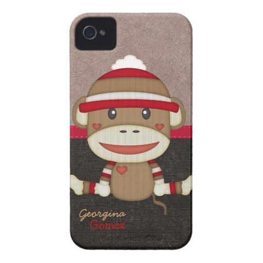 Beautiful Personalized Custom Sock Monkey Blackberry Bold Cases