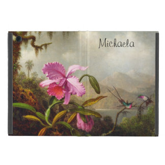 Beautiful, Personalized Orchids and Hummingbirds iPad Mini Case