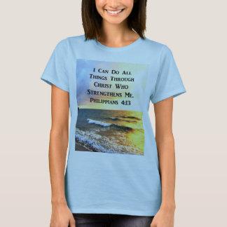 BEAUTIFUL PHILIPPIANS 4:13 SCRIPTURE PHOTO T-Shirt