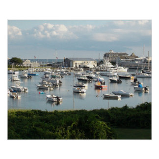 Beautiful Photo of Boats at Dock in Cape Cod, Ma Poster