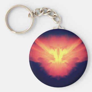 Beautiful photo of clouds after a tornado storm basic round button keychain