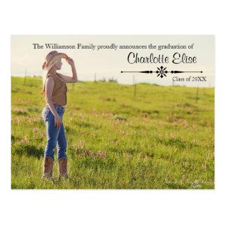 Beautiful Photo with Flourish - Grad Post Card