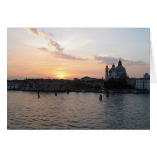 Beautiful photograph of Venice lagoon landscape Card