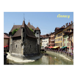 Beautiful Picturesque Historic Annecy, France Postcard