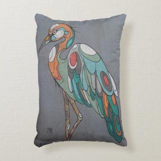 beautiful pillow with crane mosaic design