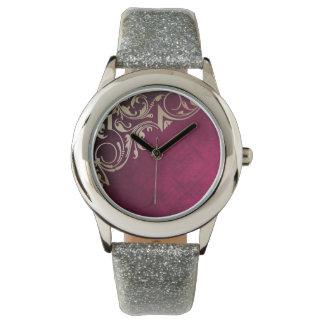 Beautiful Pink and gold elegant design Wristwatch