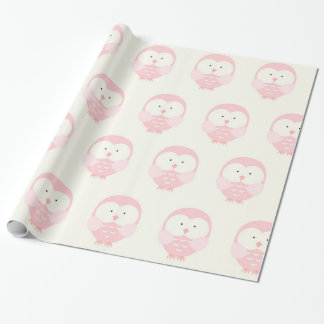 Beautiful Pink Baby Owl Wrapping Paper