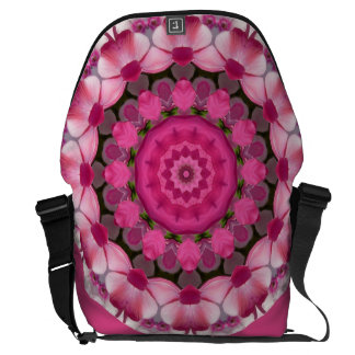 Beautiful pink Blossoms 001 02.1, Nature Mandala Messenger Bag