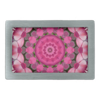 Beautiful pink Blossoms 001F 01, Nature Mandala Belt Buckle