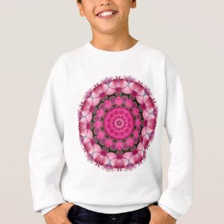 Beautiful pink Blossoms 001F 01, Nature Mandala Sweatshirt
