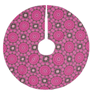 Beautiful pink Blossoms 02.7, Mandala Christmas Brushed Polyester Tree Skirt
