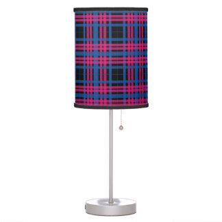 Beautiful Pink & Blue Plaid Pattern Desk Lamps