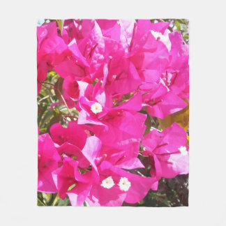 Beautiful Pink Bougainvillea Print Fleece Blankets