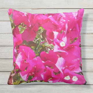 Beautiful Pink Bougainvillea Print Throw Pillow