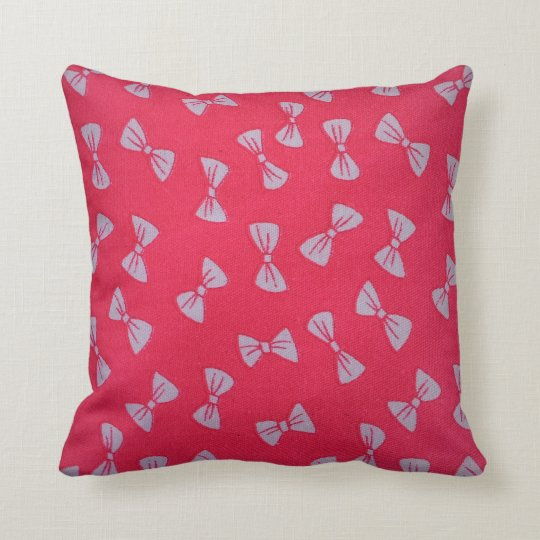 Beautiful pink bows throw pillow