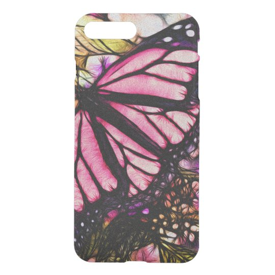 Beautiful Pink Butterfly Abstract iPhone 8 Plus/7 Plus Case
