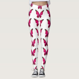 beautiful pink butterfly leggings