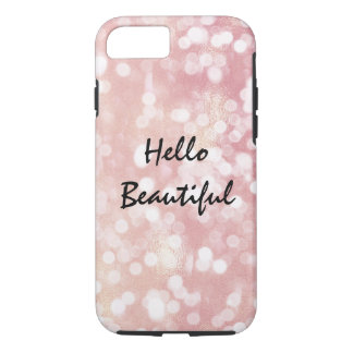 Beautiful Pink Confetti Bokeh iPhone 8/7 Case