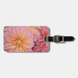 Beautiful pink dahlia flowers luggage tag