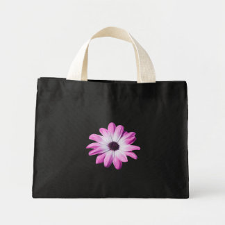 Beautiful pink daisy flower tote bag, gift idea