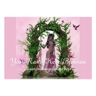 Beautiful Pink Elf Fantasy Business Cards
