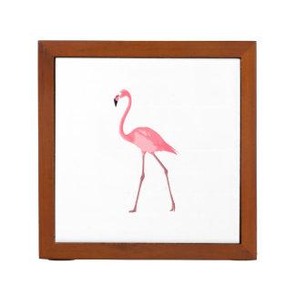 Beautiful Pink Flamingo Desk Organizer