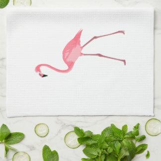 Beautiful Pink Flamingo Kitchen Towel