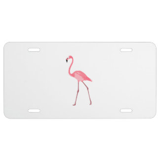 Beautiful Pink Flamingo License Plate