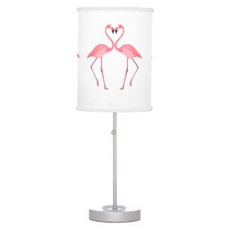 Beautiful Pink Flamingos Love Table Lamp