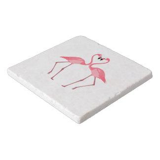 Beautiful Pink Flamingos Love Trivet