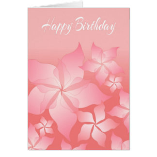 Beautiful Pink Floral Abstract Birthday Card