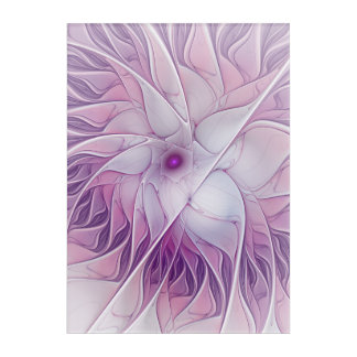 Beautiful Pink Flower Modern Abstract Fractal Art