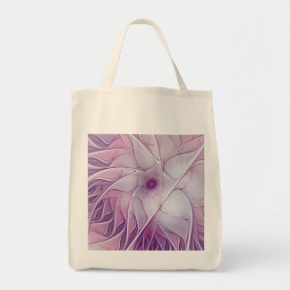 Beautiful Pink Flower Modern Abstract Fractal Art Tote Bag