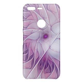 Beautiful Pink Flower Modern Abstract Fractal Art Uncommon Google Pixel Case