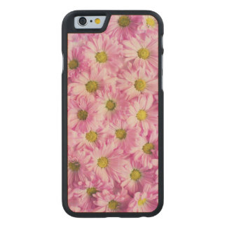 Beautiful Pink Flowers Carved Maple iPhone 6 Case