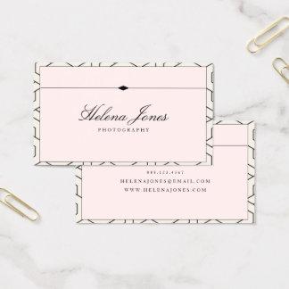 ★ Beautiful Pink Geometric Business Card