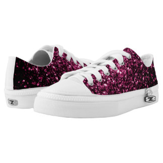 Beautiful Pink glitter sparkles Low-Top Sneakers
