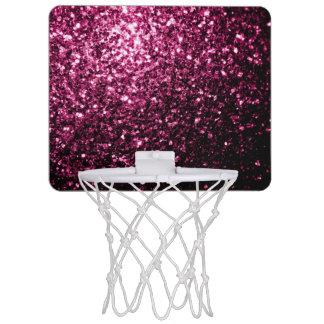 Beautiful Pink glitter sparkles Mini Basketball Hoop